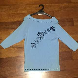 Casual Shirt, Light Blue Color, M Size