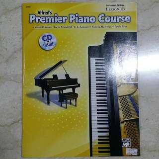 New Alfred's Piano Book 1B Including CD