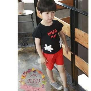 米奇/米妮/T恤/短褲/Micky/Mini/兒童/小孩/童裝/上衣/衣服/服飾/親子裝