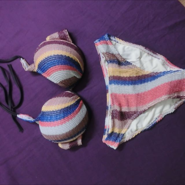 (全新實體拍攝) 編織三件套托鋼泳衣