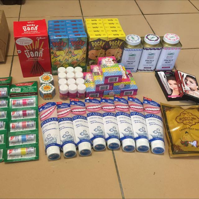 代購泰國小物*牙膏 *彩虹肥皂 *薄荷棒 *餅乾 *足貼