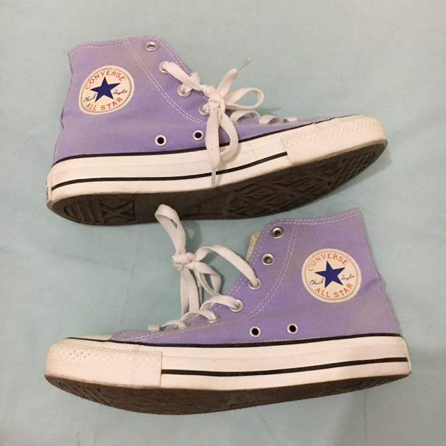 AUTHENTIC PURPLE CONVERSE HIGH-TOPS
