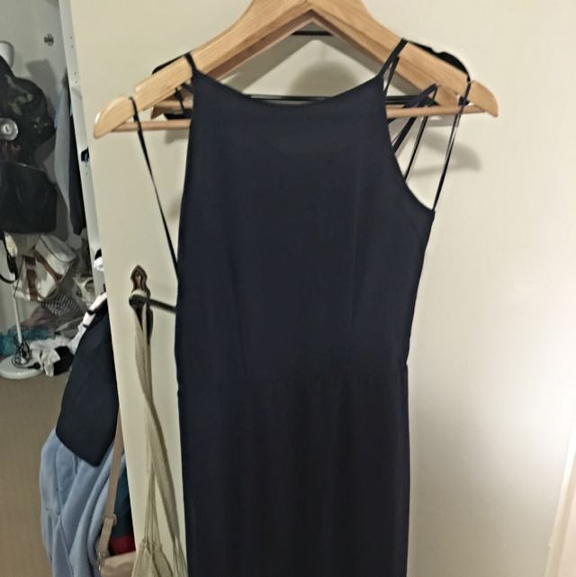 ball dress navy