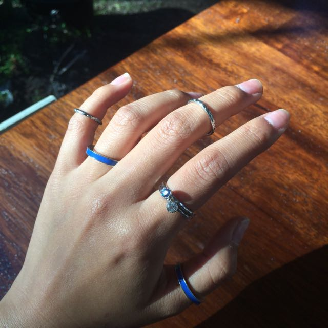 Blue Rings Set