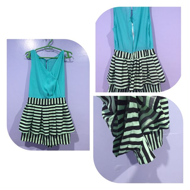 Bluegreen Korean Romper