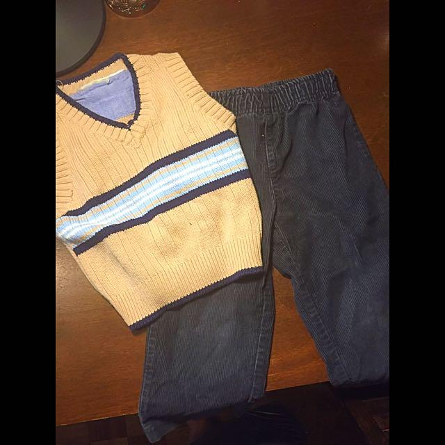 Carter's Pants And Knit Vest