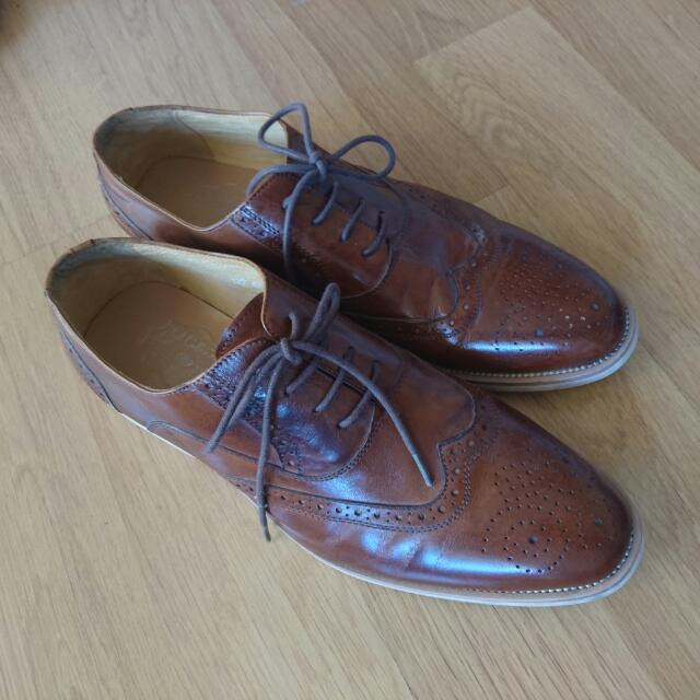 casual Brogues leather shoes size EU44