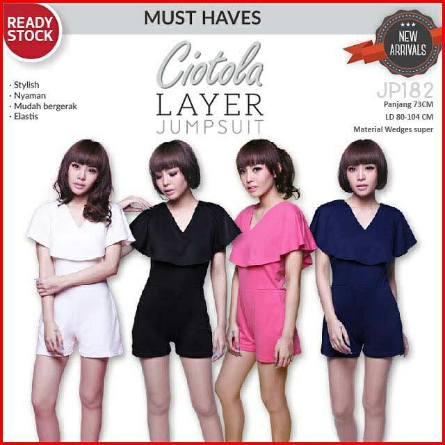 Ciotola Layer Jumpsuit | Playsuit Overall Celana Pendek Wanita