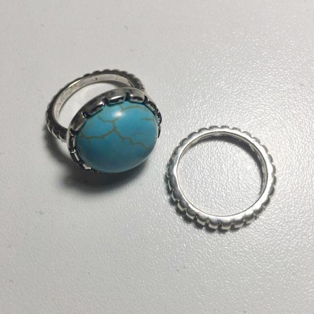 COLETTE 2 Piece Ring Set