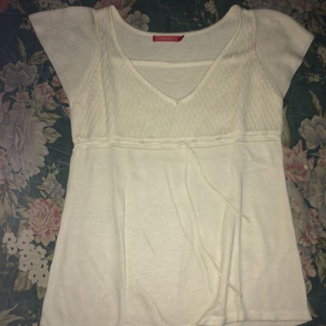connexion blouse white