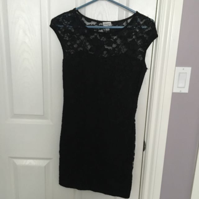 Dynamite Lace Black Dress