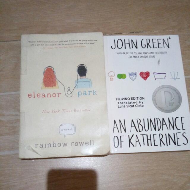 Eleanor & Park (Rainbow Rowell), An Abundance Of Katherines;  (John Green)