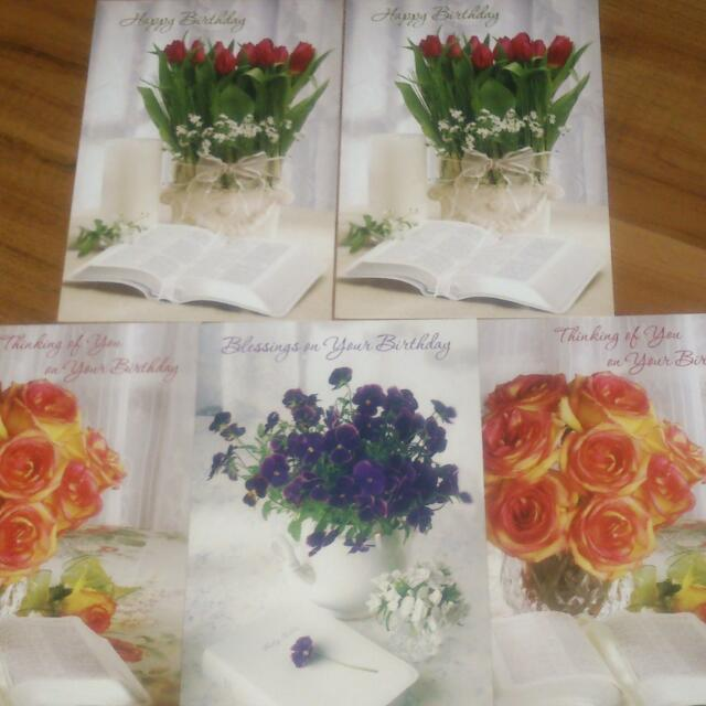 Five Unused New Day Spring Christian Birthday Cards Everything Else