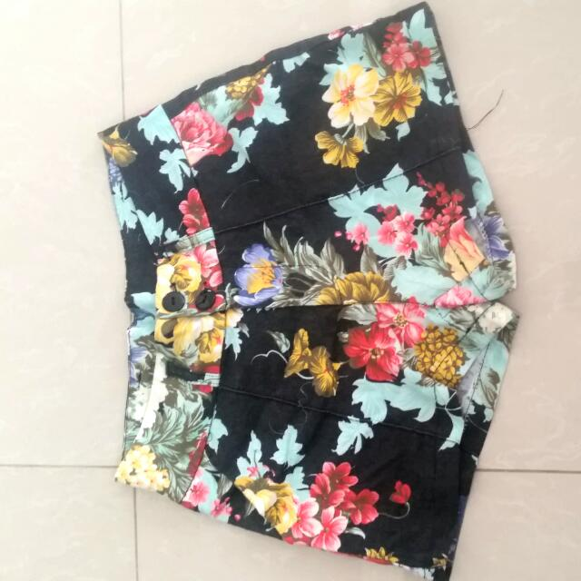 Floral Shorts W/shipping Fee