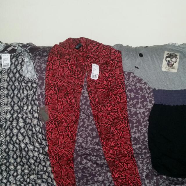 Printed Tights And Zara (Trafaluc Dress) (Jumper Sold)