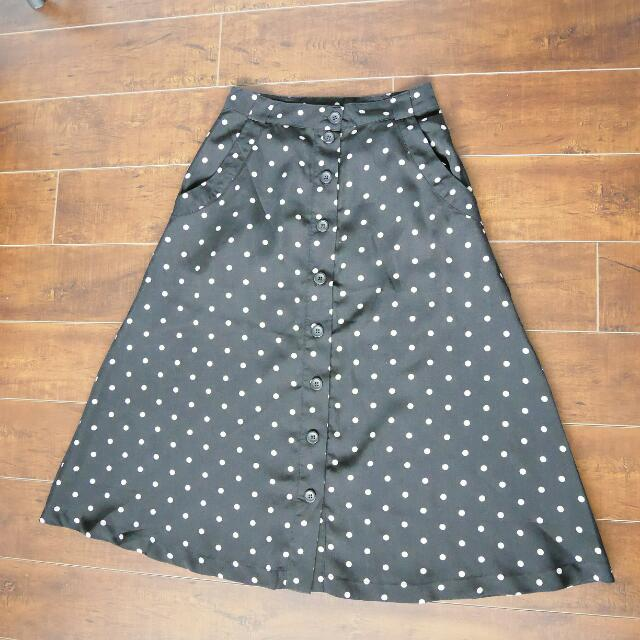 Forever 21 Midi Skirt (Size: XS)