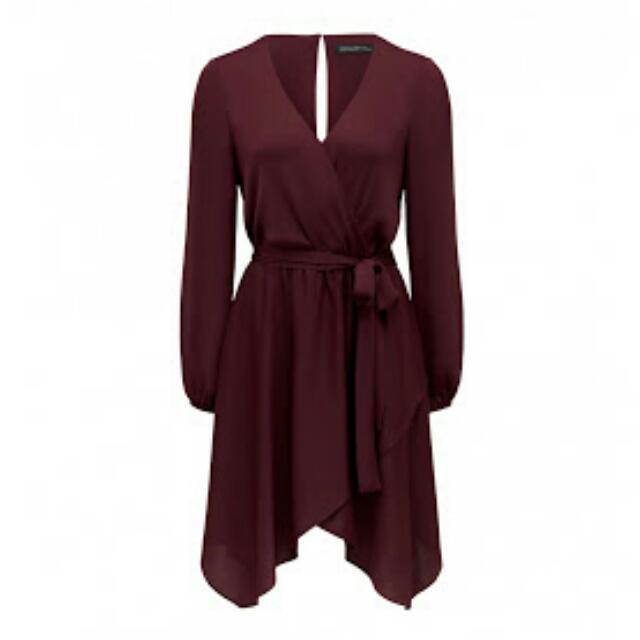 Forever New Stassi Wrap Mini Dress