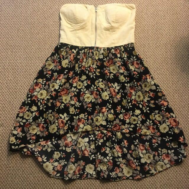 Hi-low Hem Strapless Dress
