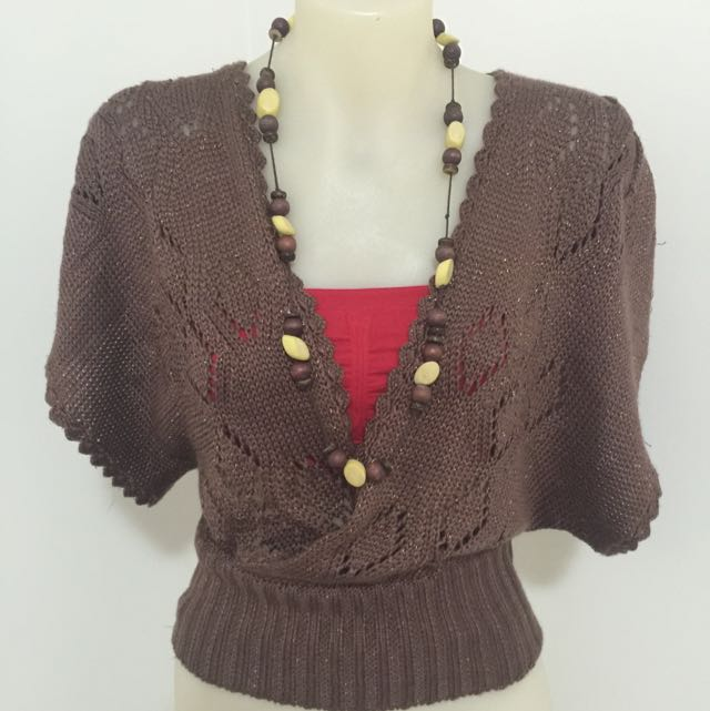 Knitted Kimono Style Top