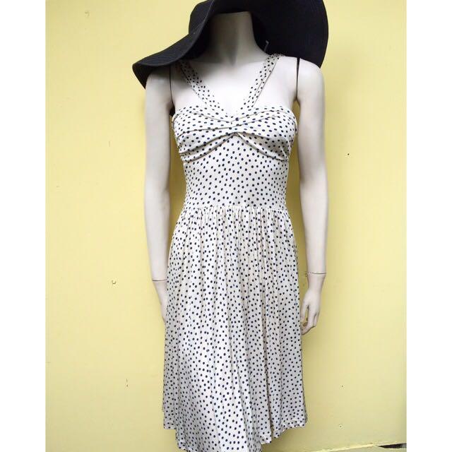 Mango Suit Polkadot Dress