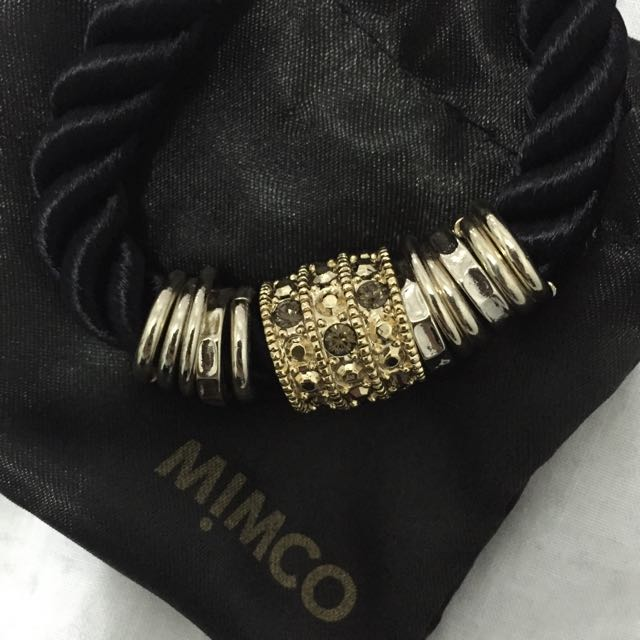 MIMCO Gold And Black Rope Bracelet