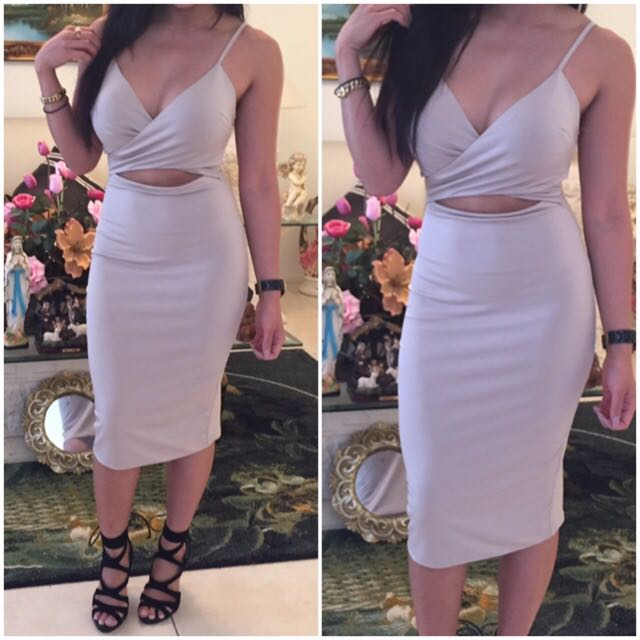 Nude Bodycon Dress