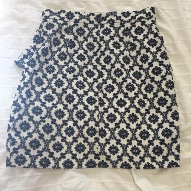 Pencil Peplum Skirt