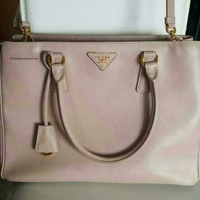 Prada Saffiano Lux Cammeo Handbag