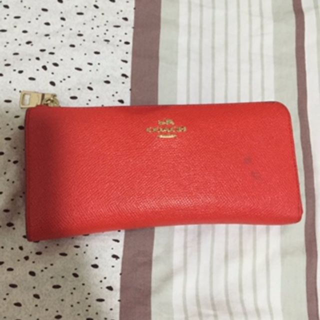 Pre-loved authentic Coach wallet - Red