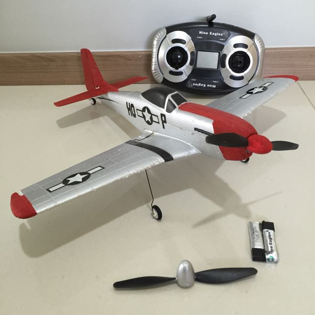Rc RTF Nine Eagles Ultra Micro Mustang P-51 Warbird Plane Not Edf Jet P