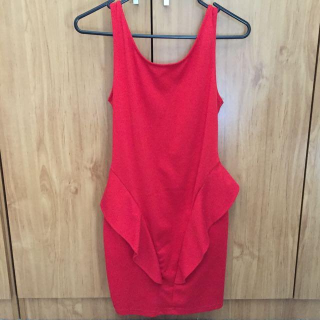 Red Backstage Dress