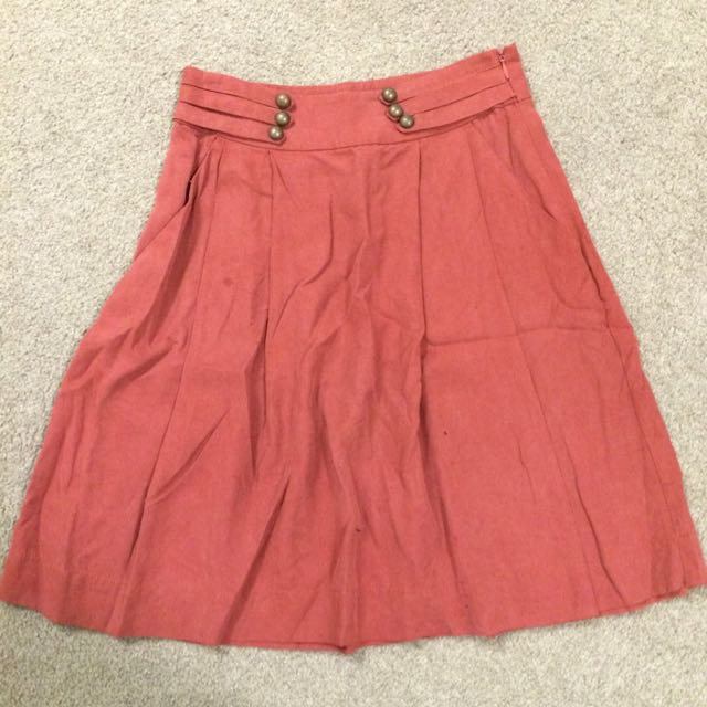 Rodeo Show burgundy pleated skirt s6