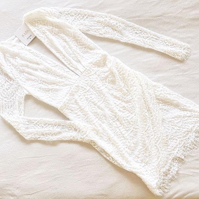 Sabo Skirt White Lace Dress
