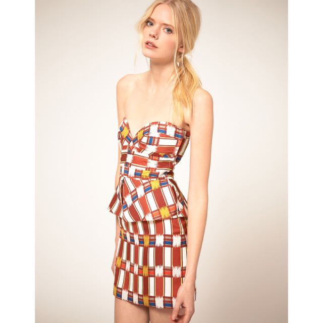 Sass And Bide Printed Bustier Dress SIZE 6 NEVER WORN