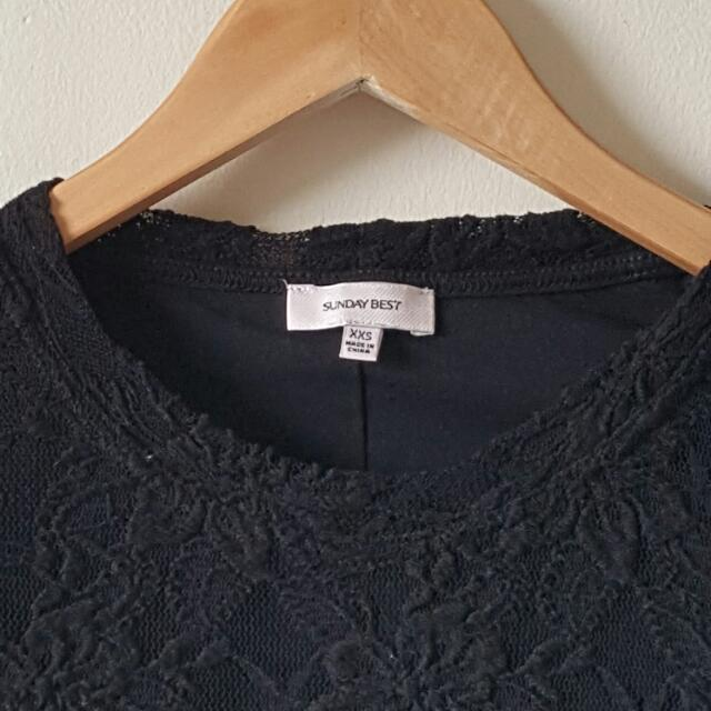 Sunday Best From Aritzia - Lace Longsleeve Shirt