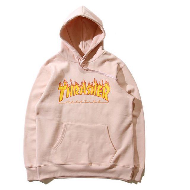 Thrasher Logo 長刷毛T恤 經典火焰 潮流滑板 女