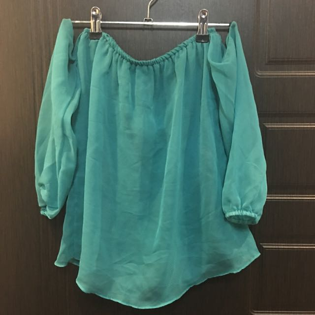 [RESERVED] Turqouise Off Shoulder Top
