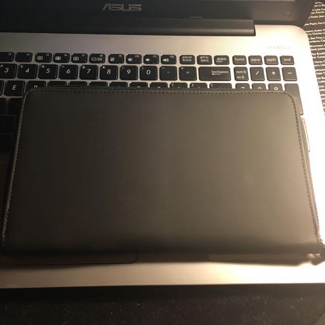 Typo Plain Black Travel Wallet