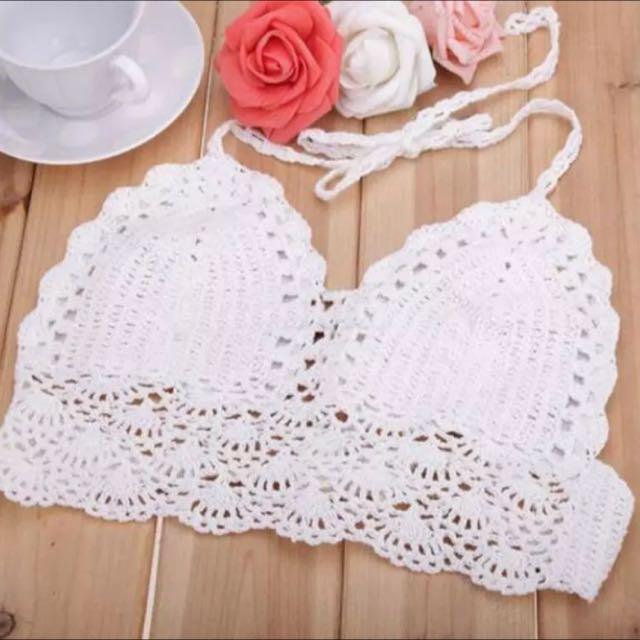 Women's  Crochet Bralette Knit Boho Beach Bikini