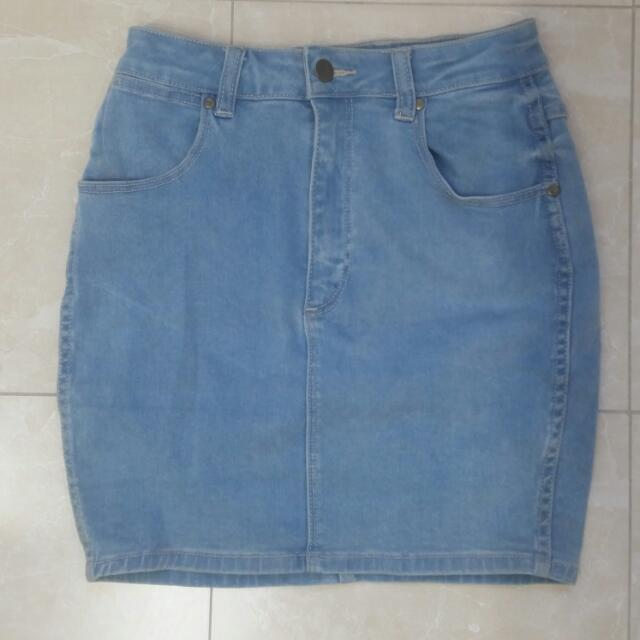 Wrangler Denim Skirt Paid General Pants Size 9
