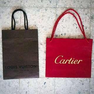 AUTHENTIC LV LOUIS VUITTON / CARTIER Paperbags / Paper Bags 🛍