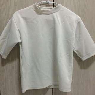 ✨二手 太空棉質白色上衣