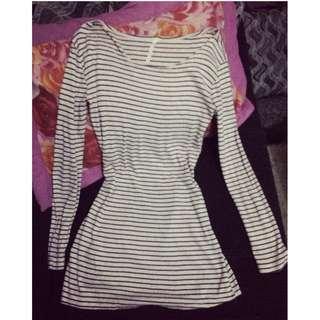 Stripe Long Sleeve Dress