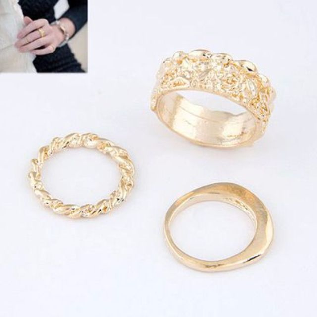 018A24rBest Seller Ring Rose Hollow Design Gold Color