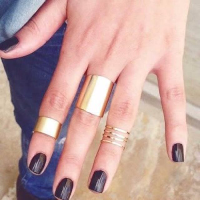018EF4rBest Seller Ring Forever 21 Nail Style Gold Color