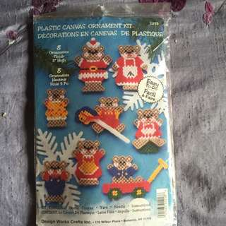 Christmas Needlepoint Ornament Kit.