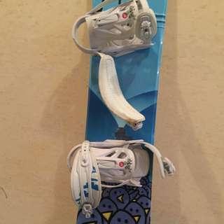 Snowboard, Boots, Bindings & helmet