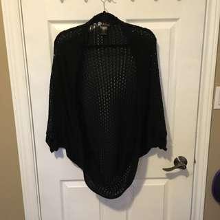 Black Crochet Sweater