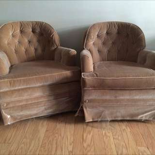 Set Of Beige Chairs