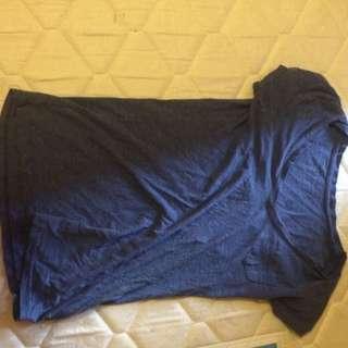 Blue V-neck Shirt